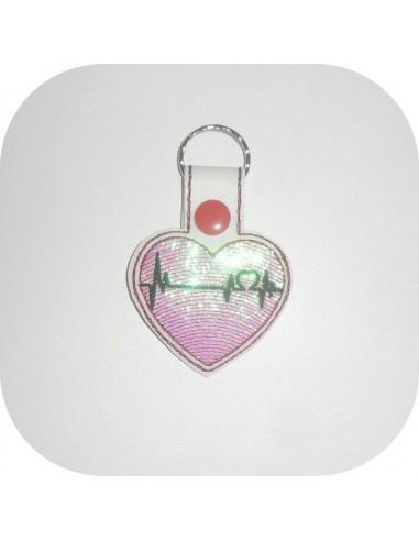 Instant download machine embroidery design heart organ mylar keychains ith