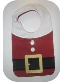 machine embroidery design  bib tie pacifier tiger
