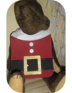 Instant downloads machine embroidery design machine  ITH Santa Claus bib