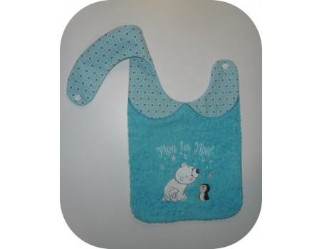 Instant dowload machine embroidery design machine  ITH Santa Claus bib