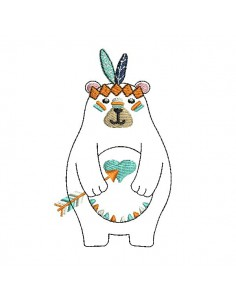 Instant download machine embroidery  indian koala