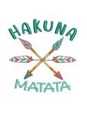 Motif de broderie machine  flèches Hakuna matata