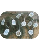 Motif de broderie machine pack étiquettes  boules de noël en mylar et en relief  ITH