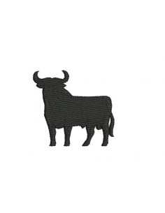 Motif de broderie taureau camarguais