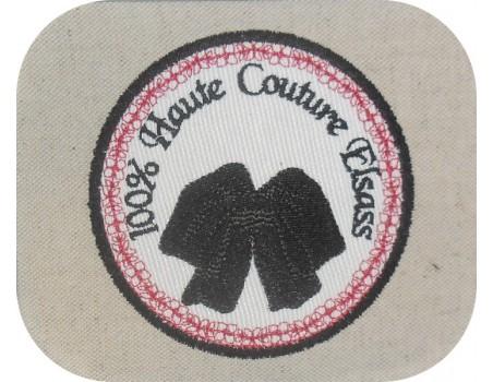 Instant download machine embroidery  Breton headdress