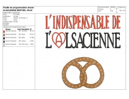 Motif de broderie machine l'indispensable  de l' Alsacienne