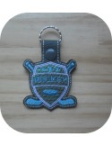 Instant download machine embroidery design hockey mylar keychains ith