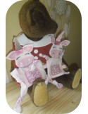 Instant download machine embroidery donkey ith