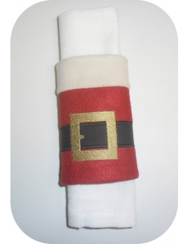 Instant download embroidery design  machine napkin ring ITH