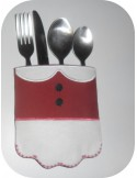 Instant download  machine embroidery design  santa claus cutlery holder  ITH