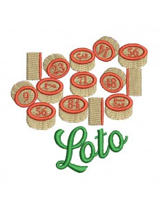 Instant download machine embroidery design lotto chips