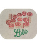 Instant download machine embroidery design lotto