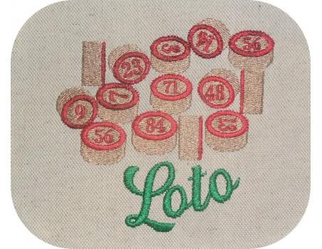 Instant download machine embroidery design lotto