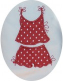 Motif de broderie ensemble bloomer