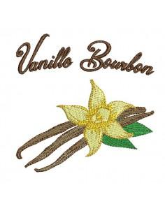 Motif de broderie machine vanille Bourbon