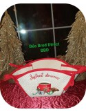 Instant download machine embroidery design Christmas hat and cookies