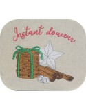 Instant download machine embroidery design Christmas star and cookies