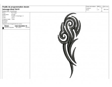 Instant download machine embroidery tribal tattoo