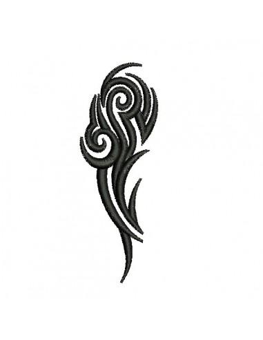 Motif de broderie machine tatouage tribal