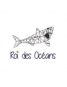 Motif de broderie machine Requin roi des océans