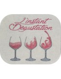 Instant download machine embroidery design Christmas hot wine