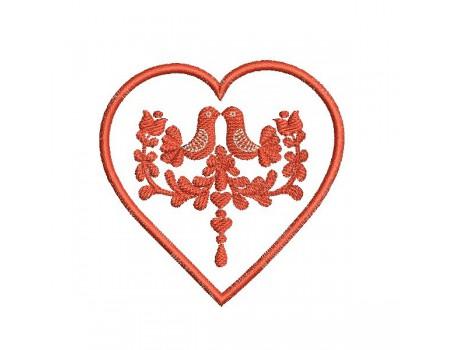 Motif de broderie machine coeur Hongrois