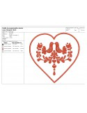 Instand download Embroidery design machine Decorative  heart