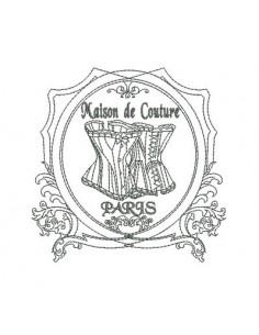 Motif de broderie  machine corset