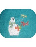 Instant downloads machine embroidery design  bear my first Chrismas