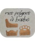 Motif de broderie machine peignes pour barbe