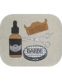 Instant download machine embroidery beard combs
