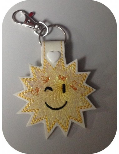 Instant download machine embroidery design palm mylar keychains ith