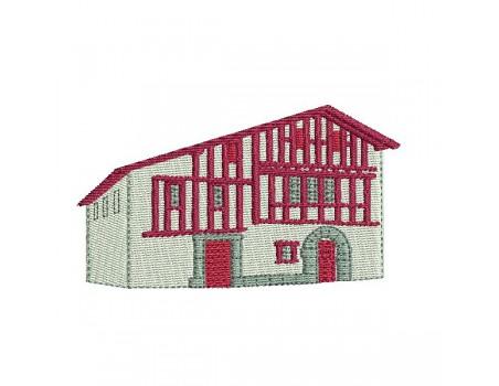 Motif de broderie machine maison basque