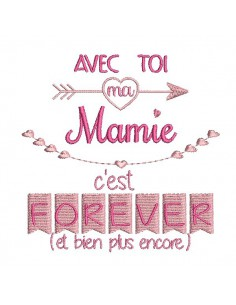 Instant dowload machine  Embroidery design granny  forever