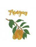 Motif de broderie machine Mangues