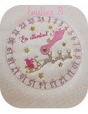 Instant dowload embroidery design  machine scalloped napkin ring bear  ITH