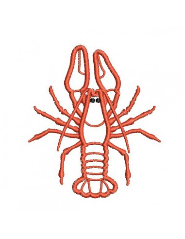 motif de broderie machine homard appliqué