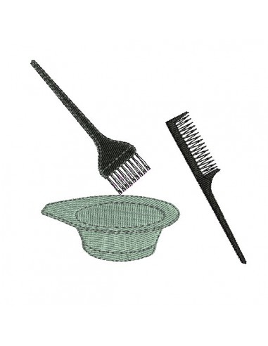 instant download machine embroidery design brush and comb