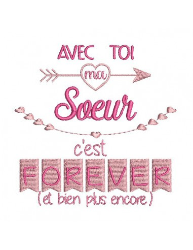 Instant dowload machine  Embroidery design friend forever
