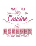 Instant dowload machine  Embroidery design sister forever