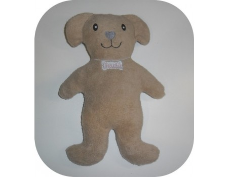 Instant download machine embroidery toy dog ith