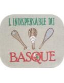 Motif de broderie machine Pelote basque l'indispensable