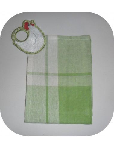 Instant download machine embroidery hanging cloth olive oil