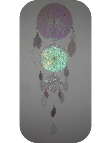 machine embroidery design mandala flower of life dream Catcher  ith