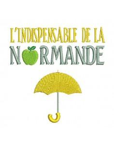 Motif de broderie machine parapluie de la normande