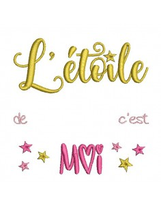 Instant dowload machine  Embroidery design my little star
