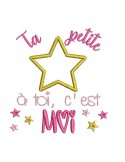 Instant dowload machine  Embroidery design  your little star