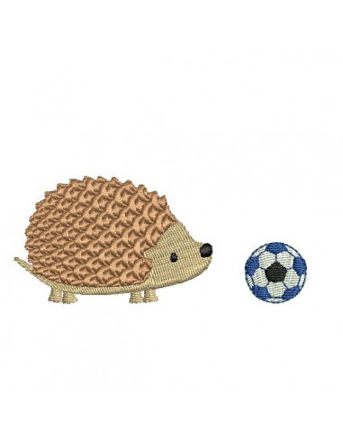 Instant download machine embroidery hedgehog with a snail