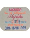Embroidery design super big brother