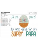 Instant download machine embroidery design daddy super daddy